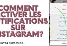 comment activer les notifications sur instagram